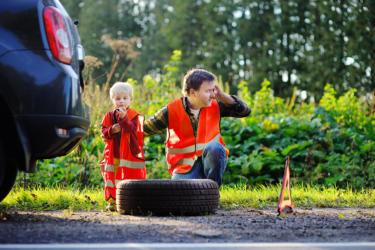First Stop hilft Ihnen in Falle einer Reifenpanne