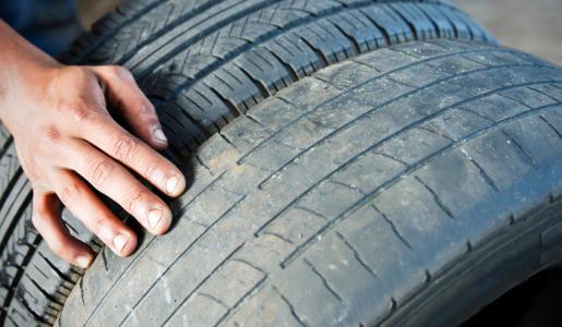 Vergleich Profiltiefe von neue und alte Reifen