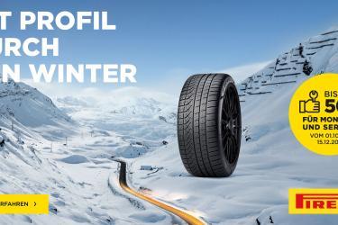 Serviocekostenerstattung beim Kauf von Winter- oder Ganzjahresreifen von Pirelli